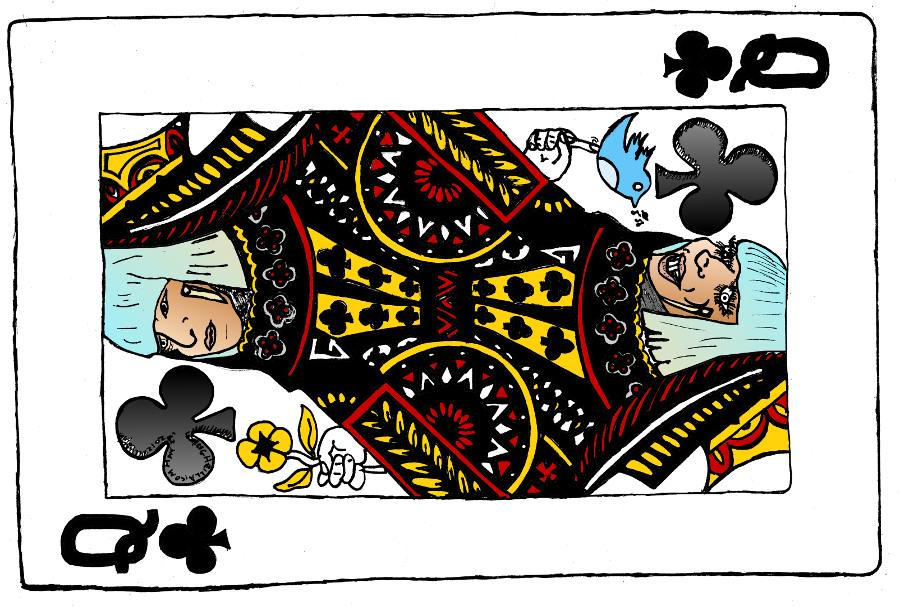 Lady Gaga Poker Face Queen Of Clubs