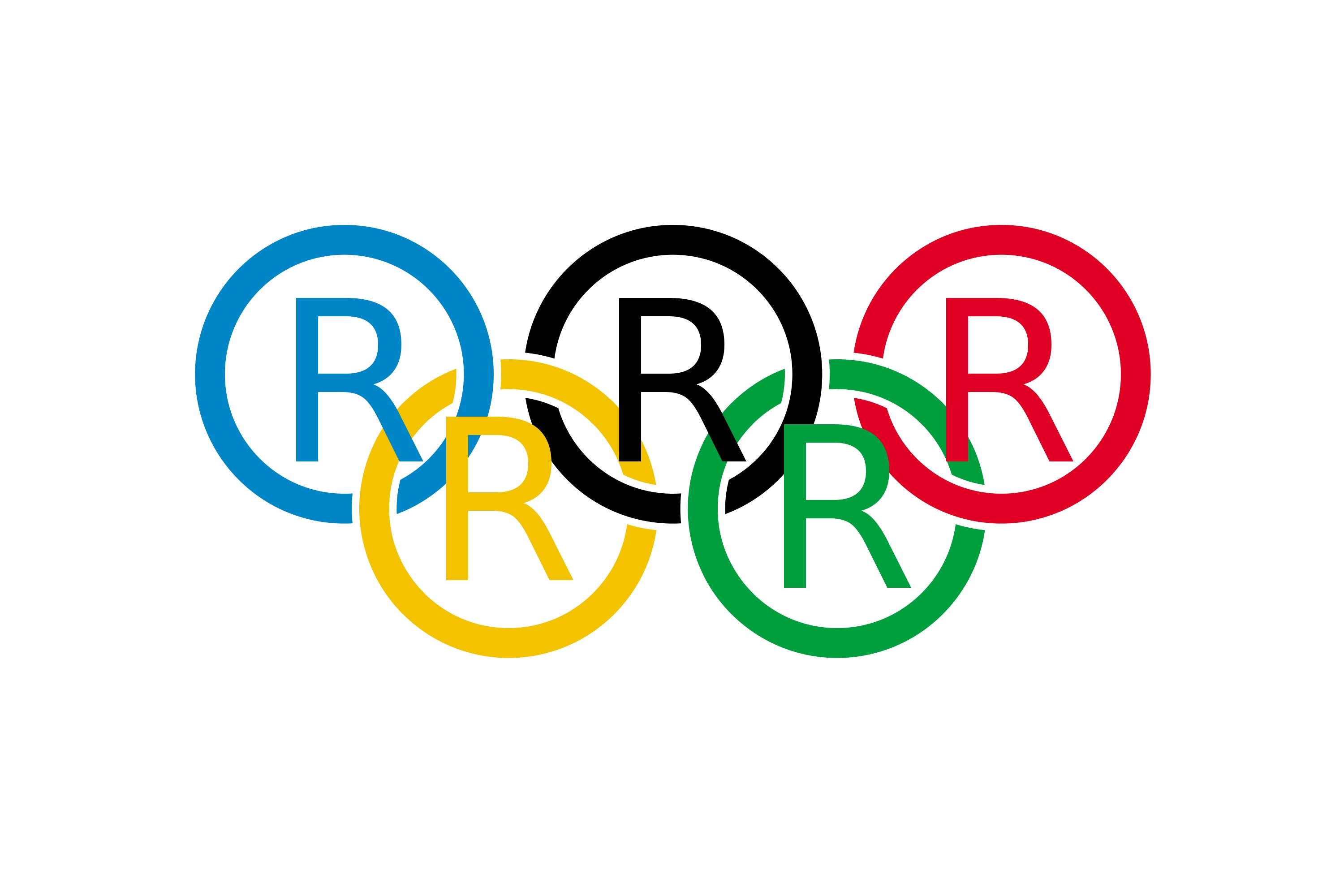 Registered Trademark Olympic Rings Satire
