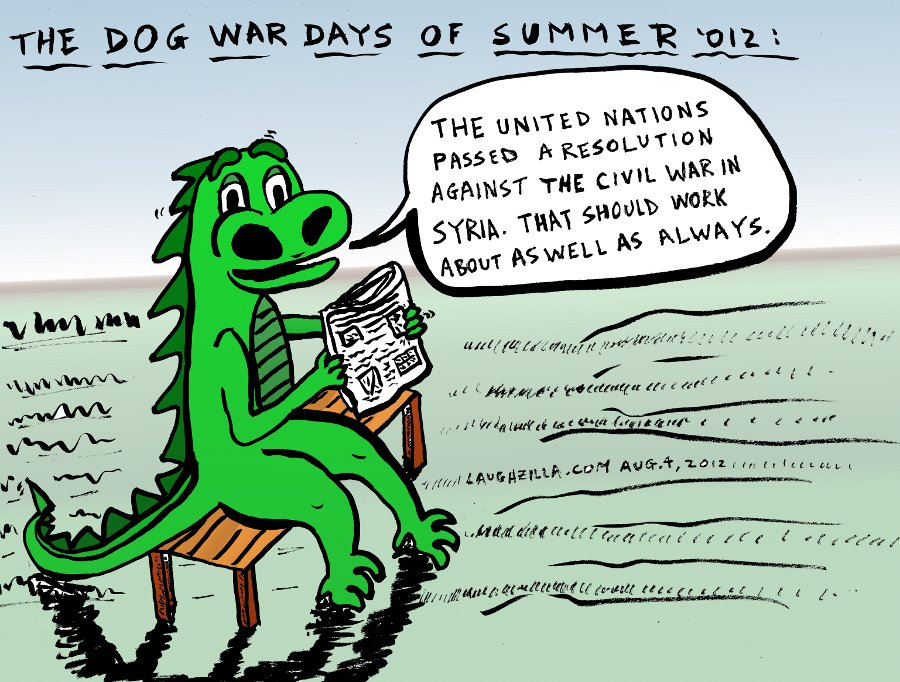 Laughzilla Replies To A Un Resolution Against Syria