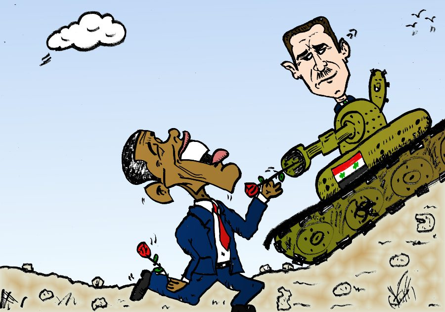 comic-2013-08-31-editorial caricature barack obama sends a clear message to assad syrian wmd.jpg
