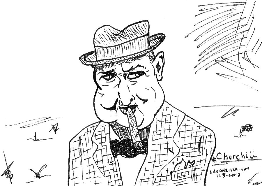 Winston Churchill webcomic of Great Britain's WWII Prime Minister from November 9, 2013