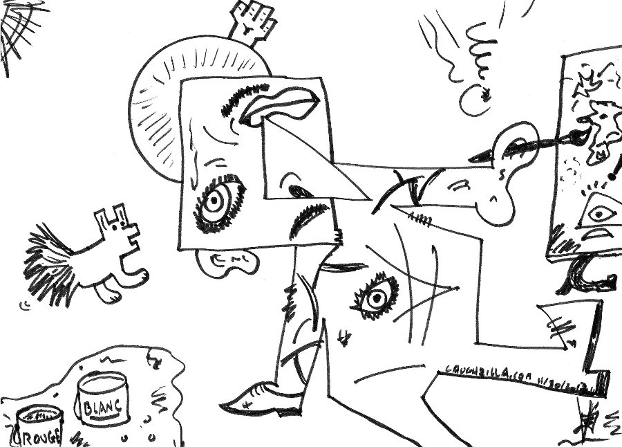 abstract pabslo picasso comic caricature from november 30, 2013 by laughzilla