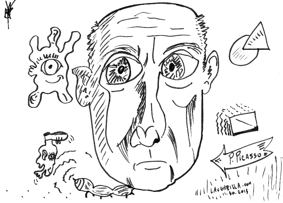 Pablo Picasso caricature from Nov. 30, 2013