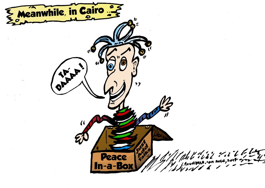 israel hamas cairo box of peace cartoon by laughzilla august 6, 2014