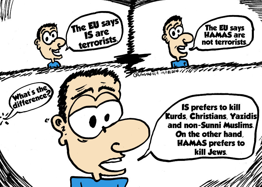 Hamas vs Islamic State editorial webcomic by laughzilla 2014 dec 18